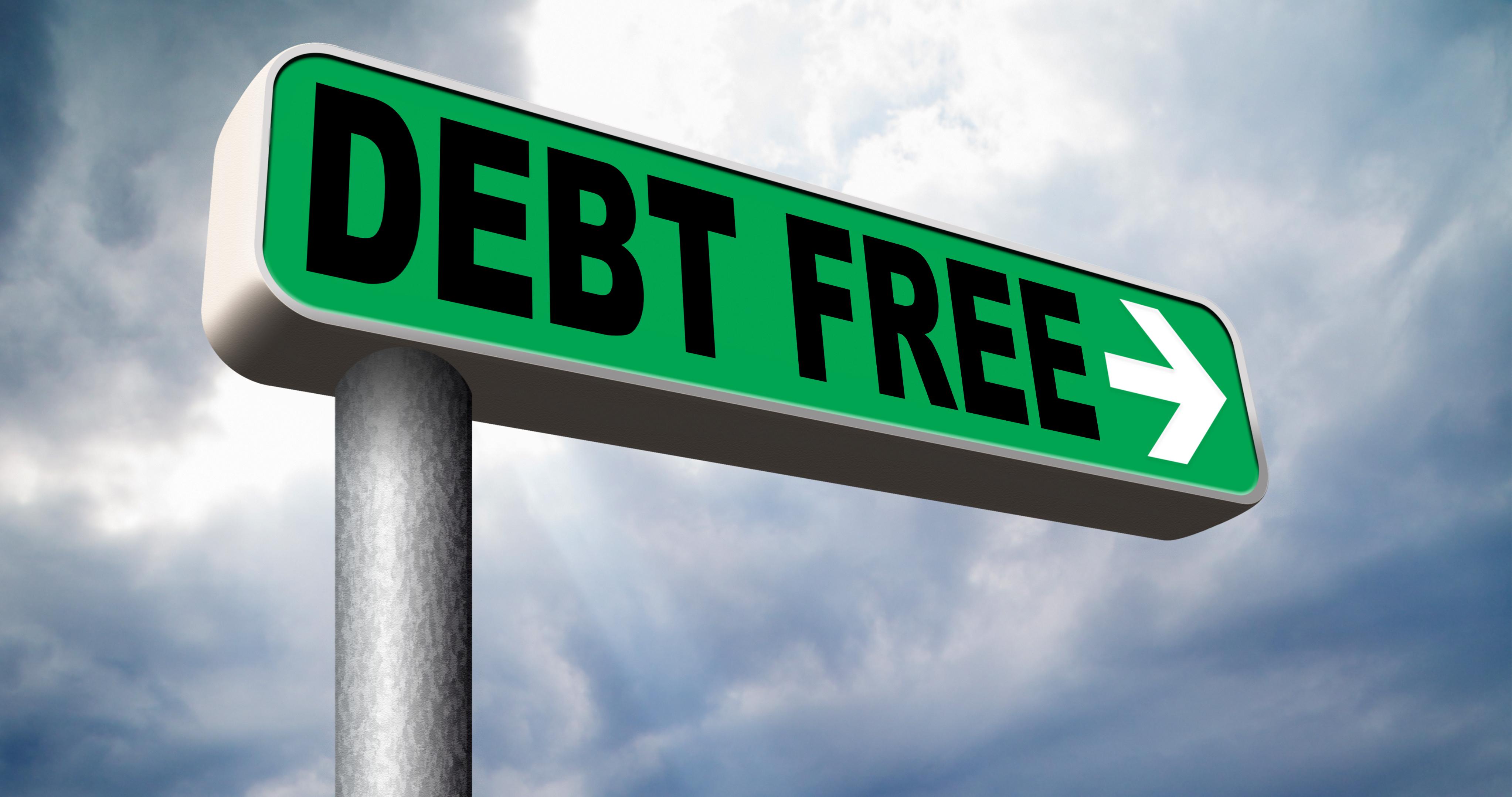 Debt free signages